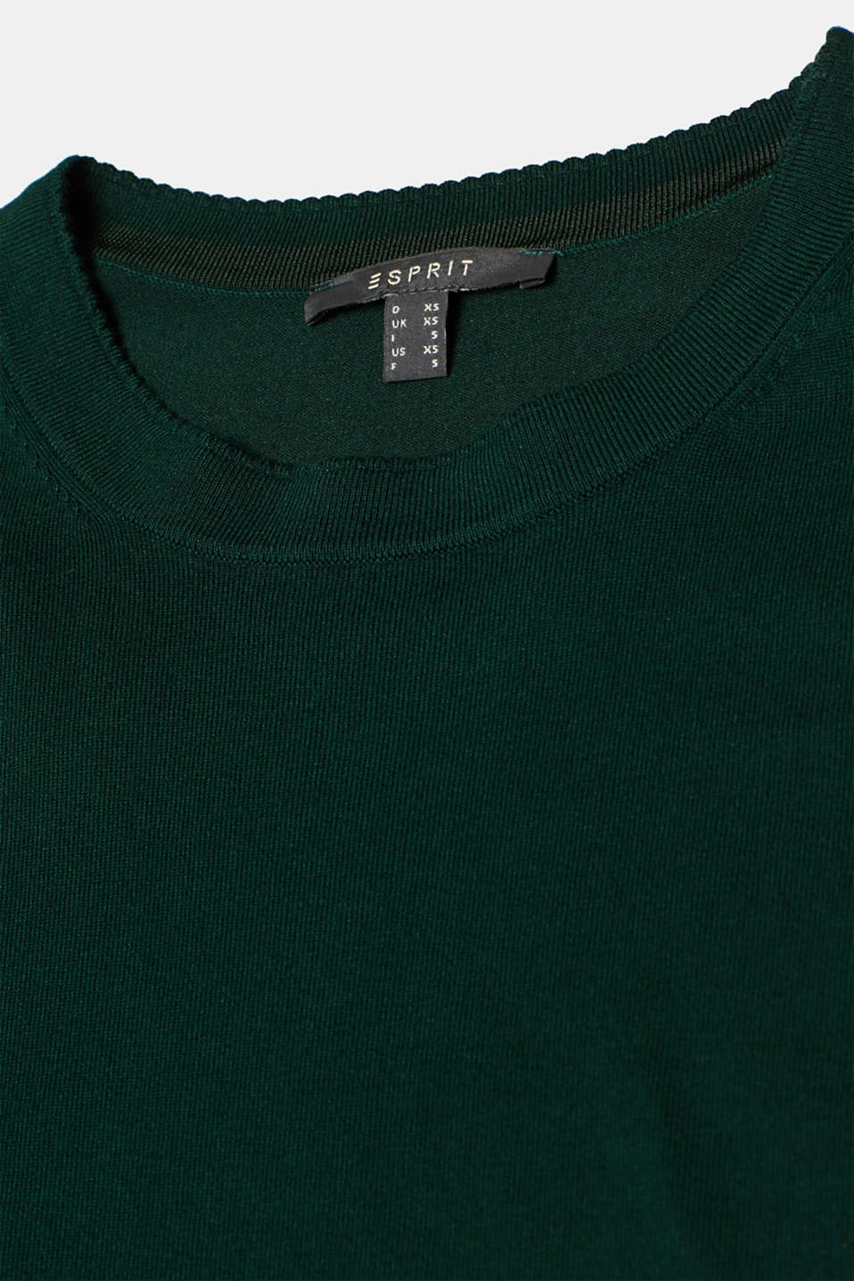 Sweaters, BOTTLE GREEN, detail image number 4