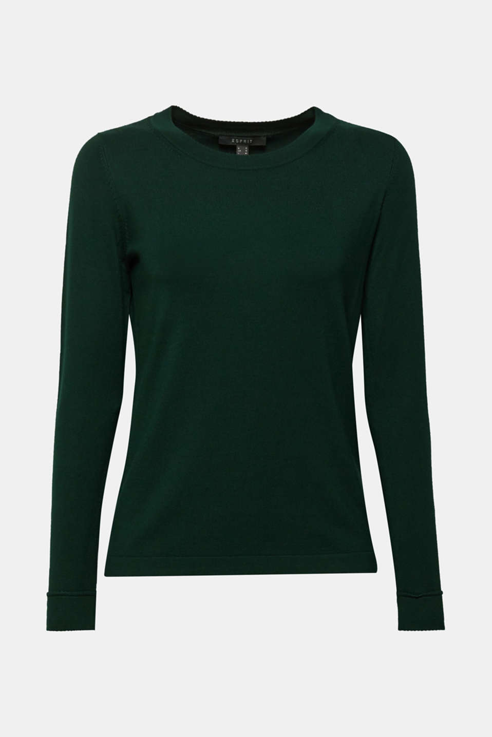 Sweaters, BOTTLE GREEN, detail image number 7