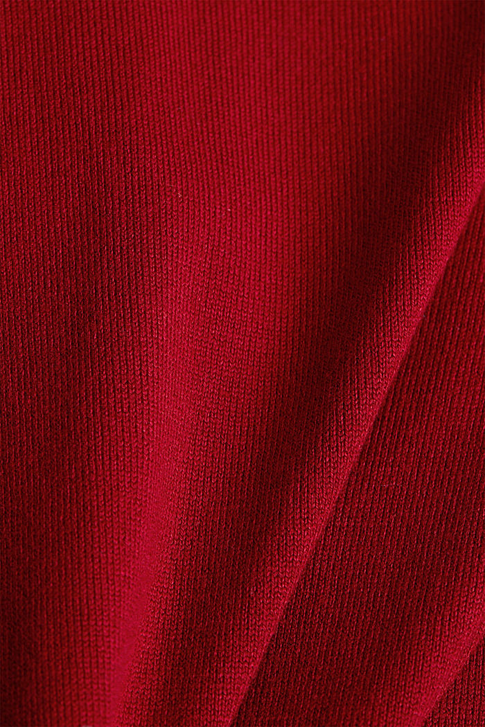 Pullover con LENZING™ ECOVERO™, DARK RED, detail image number 4