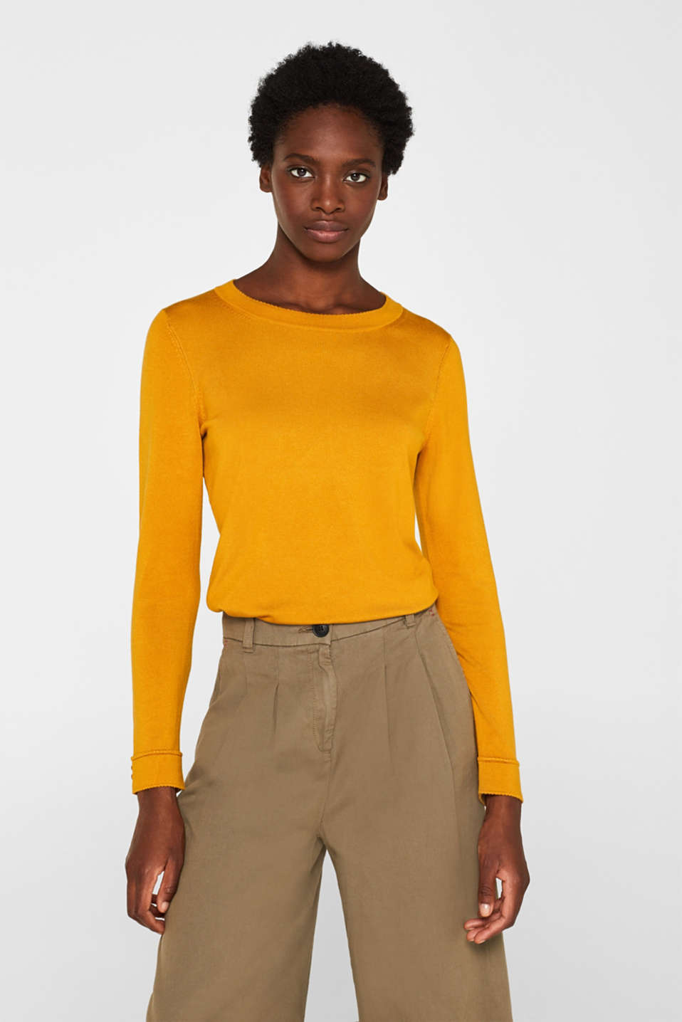 Sweaters, AMBER YELLOW 5, detail image number 0