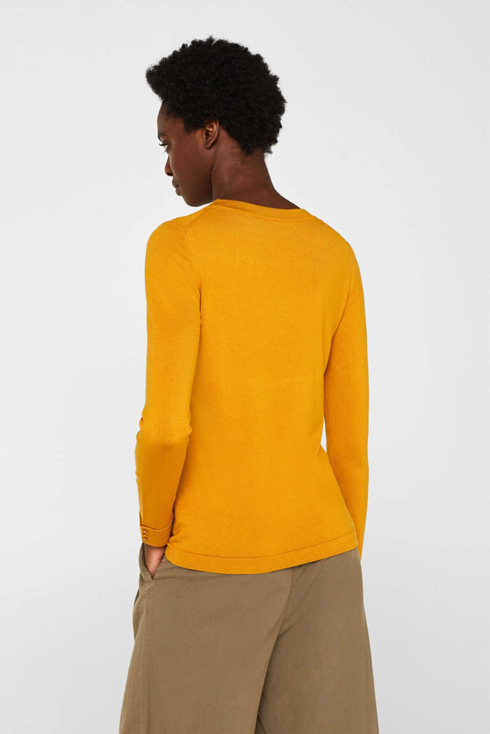 Sweaters, AMBER YELLOW 5, detail image number 3