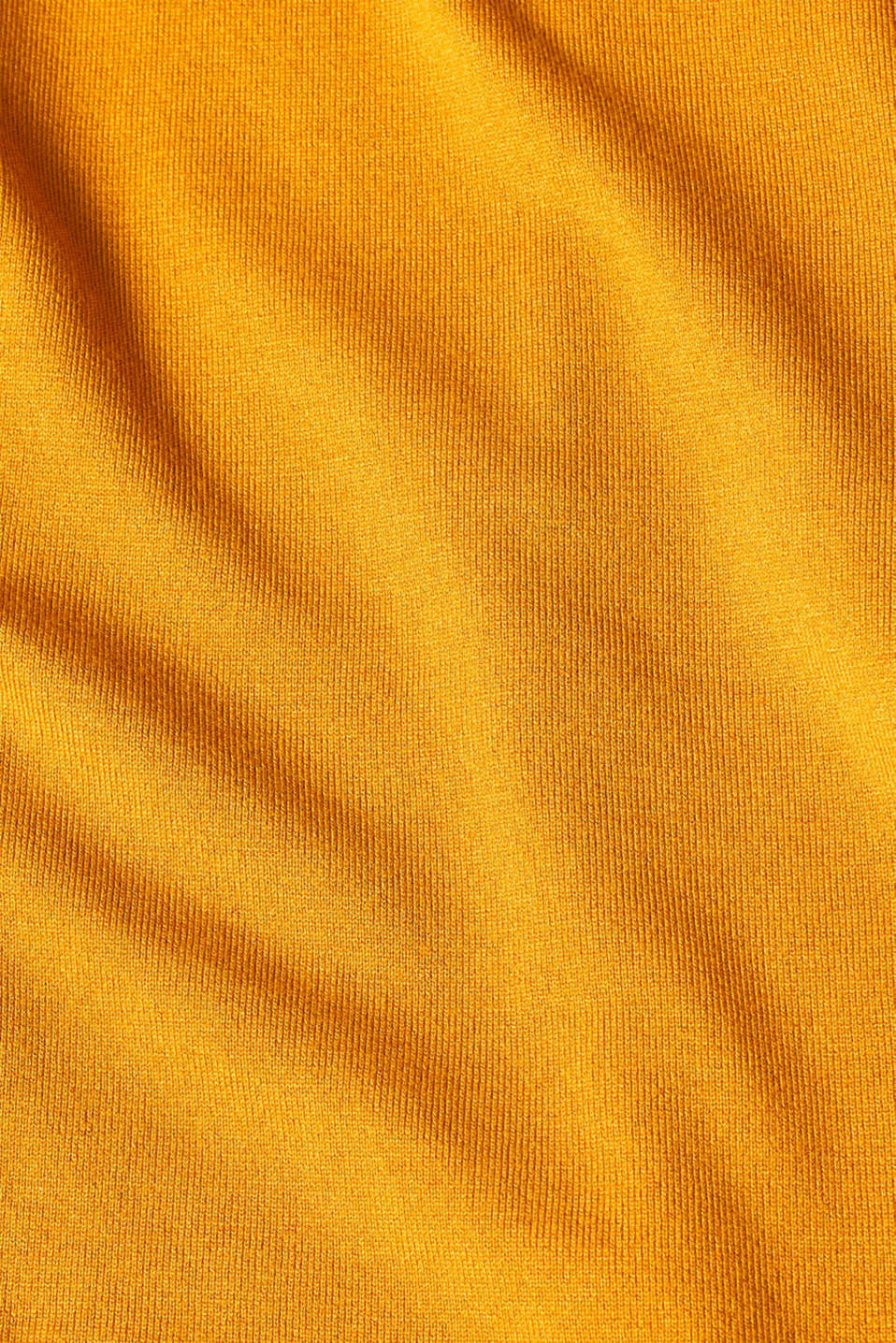 Sweaters, AMBER YELLOW 5, detail image number 4