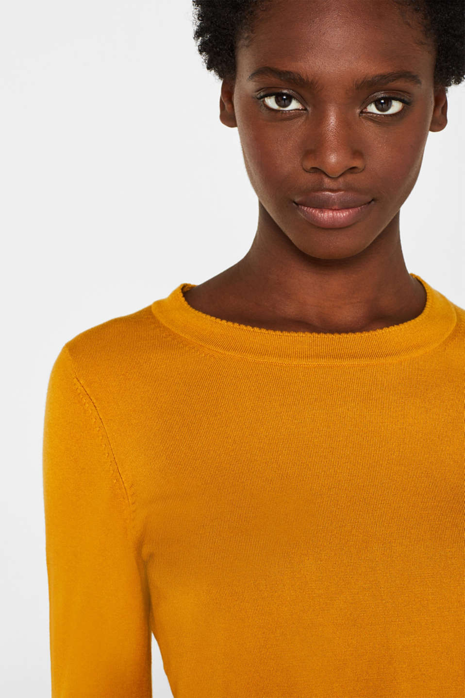 Sweaters, AMBER YELLOW 5, detail image number 6