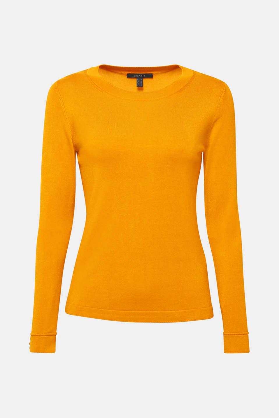 Sweaters, AMBER YELLOW 5, detail image number 7