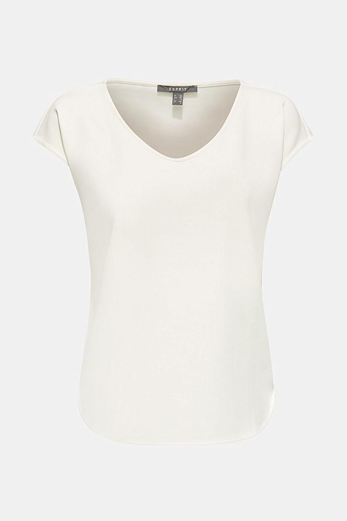 Stretch-Shirt mit Brushed-Effekt, OFF WHITE, detail image number 7