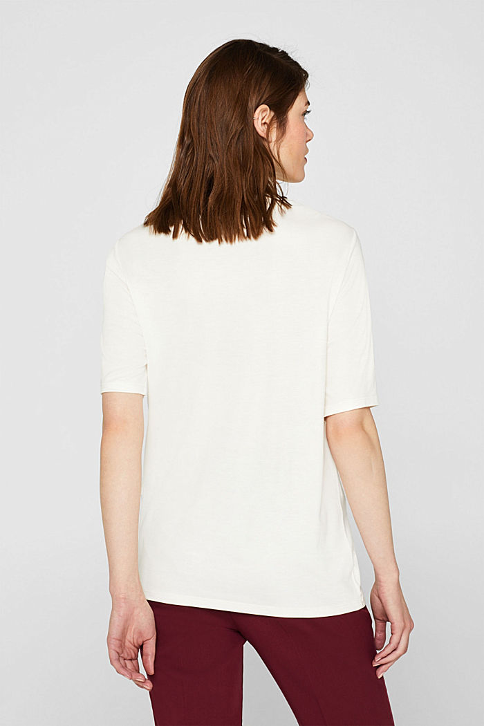 T-shirt with bateau neckline, OFF WHITE, detail image number 3