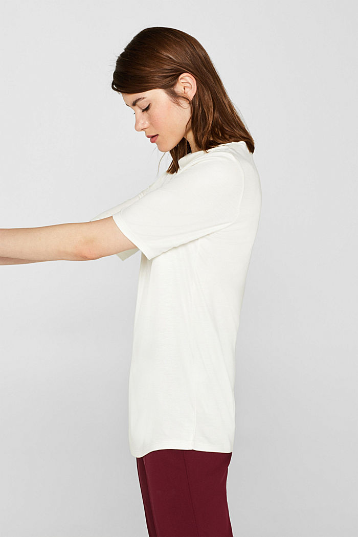 T-shirt with bateau neckline, OFF WHITE, detail image number 5