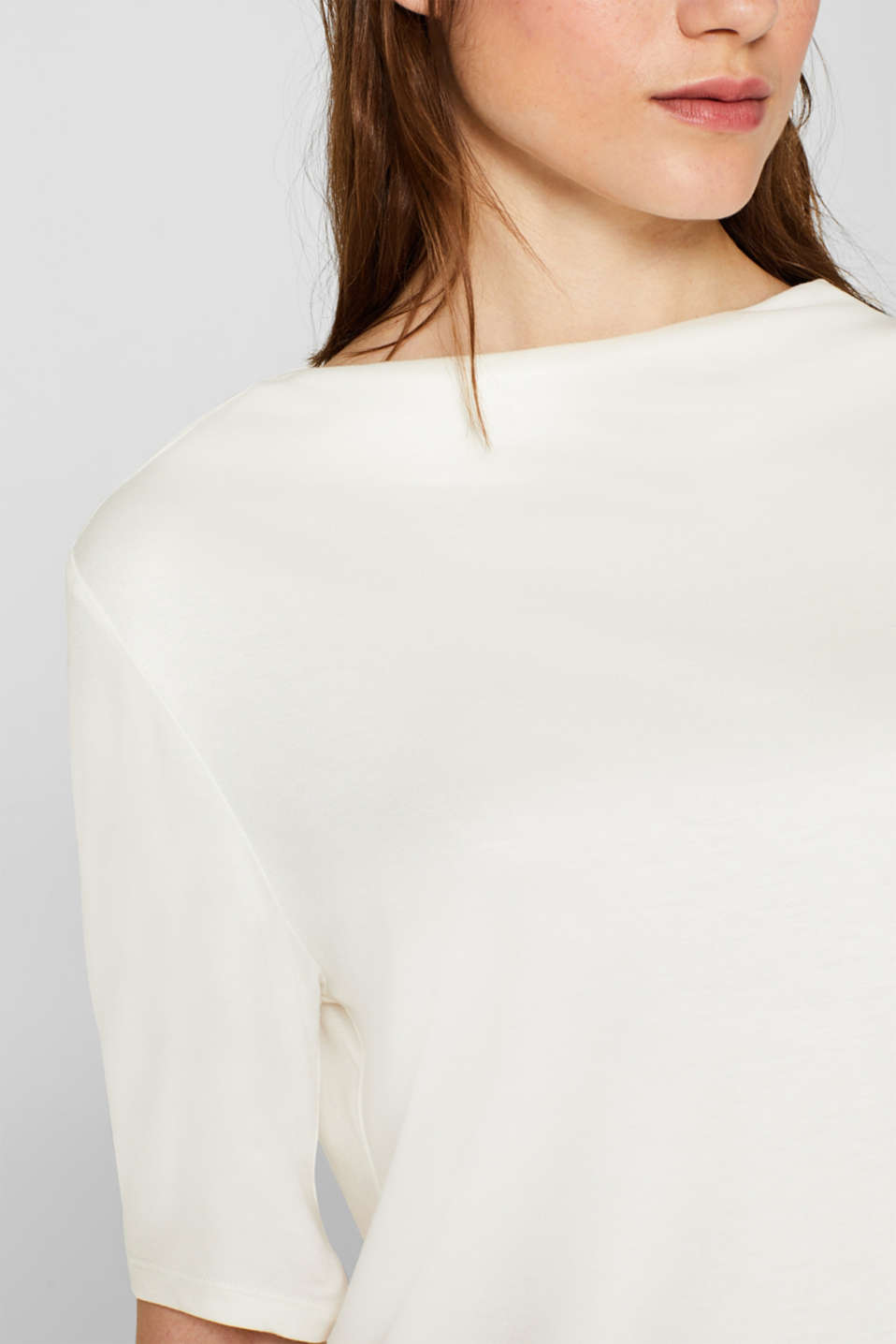 T-shirt with bateau neckline, OFF WHITE, detail image number 2