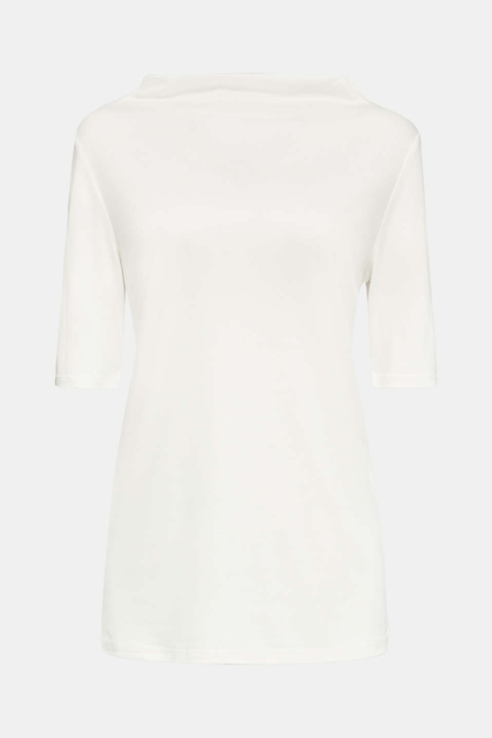 T-shirt with bateau neckline, OFF WHITE, detail image number 6