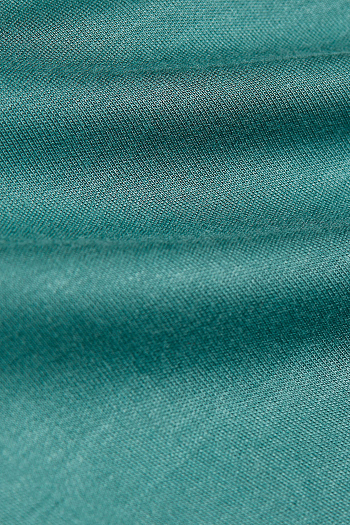 T-shirt with bateau neckline, DUSTY GREEN, detail image number 4