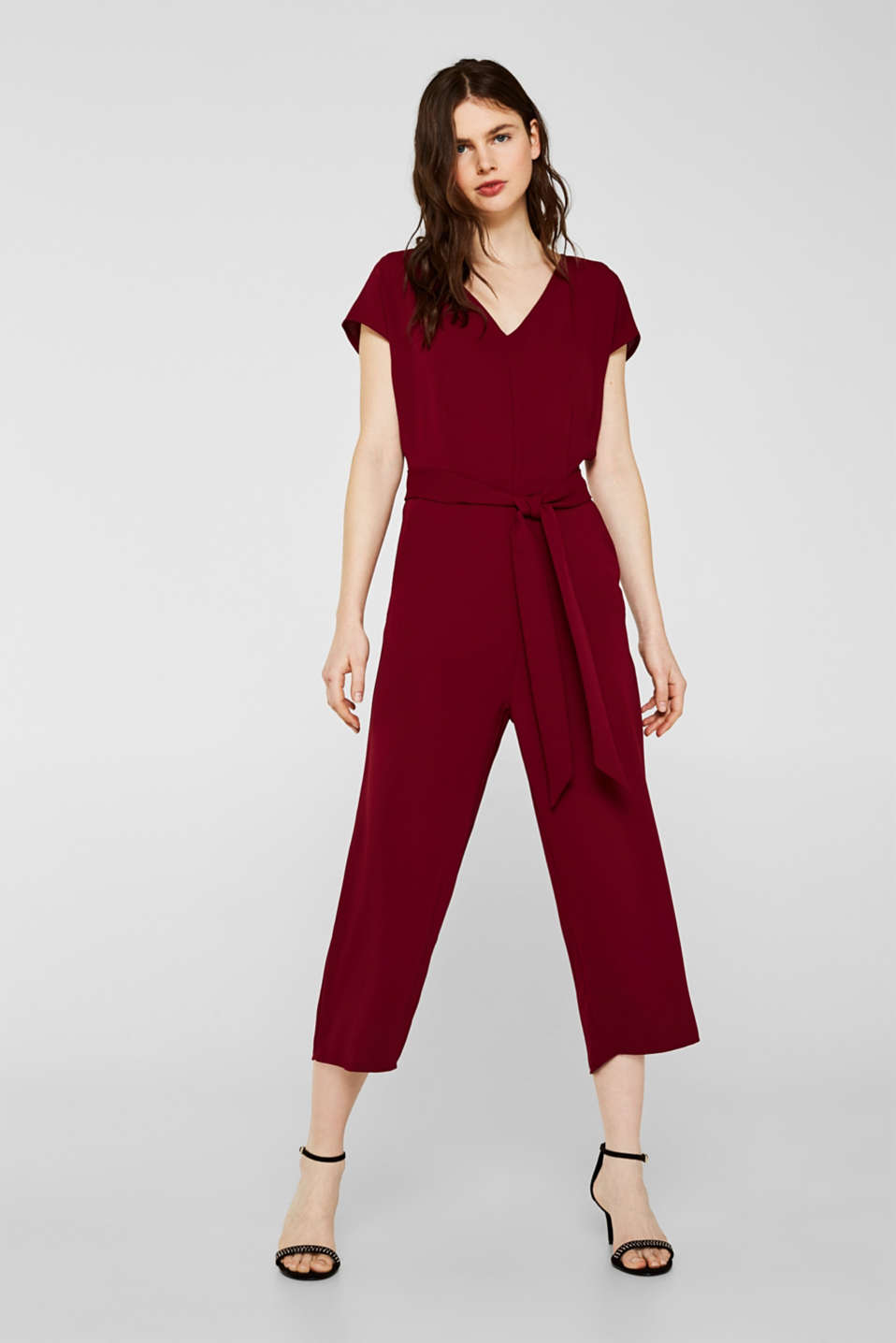 Overalls woven, GARNET RED, detail image number 0