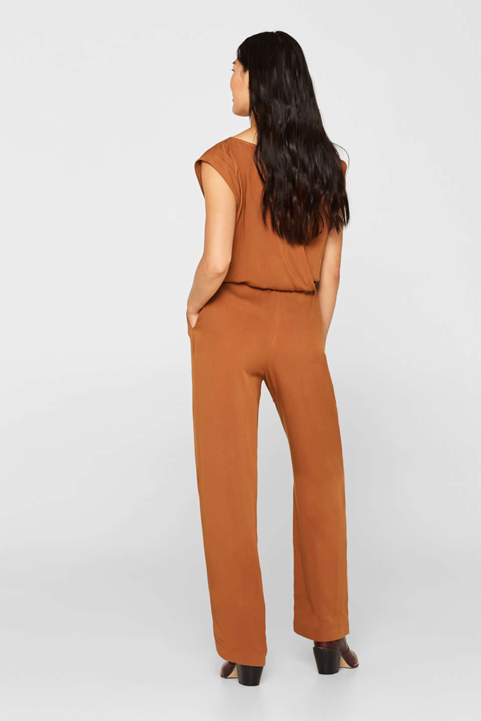 Jumpsuit with a braided belt, TOFFEE, detail image number 3