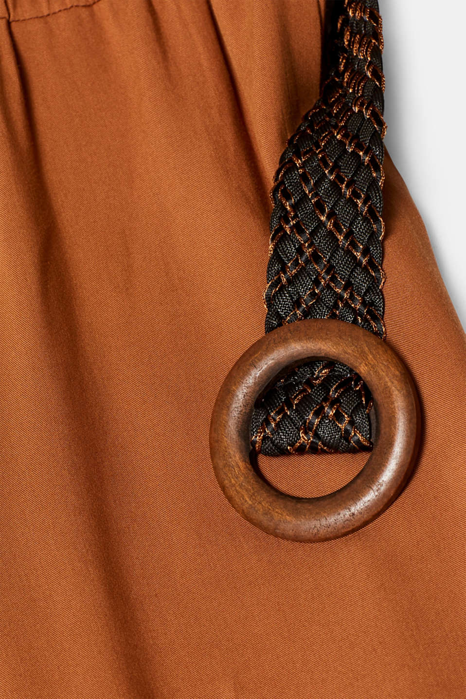Jumpsuit with a braided belt, TOFFEE, detail image number 4