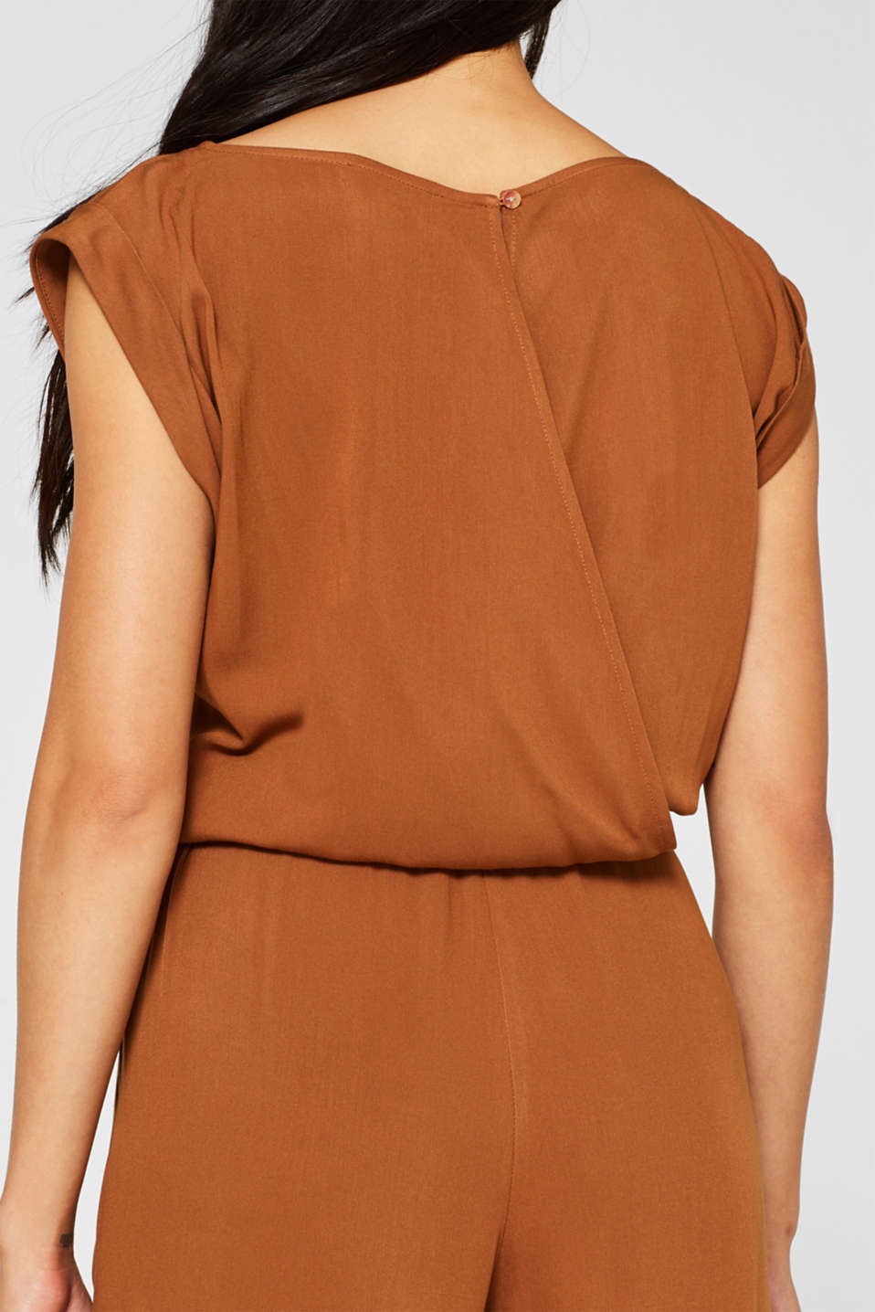 Jumpsuit with a braided belt, TOFFEE, detail image number 6