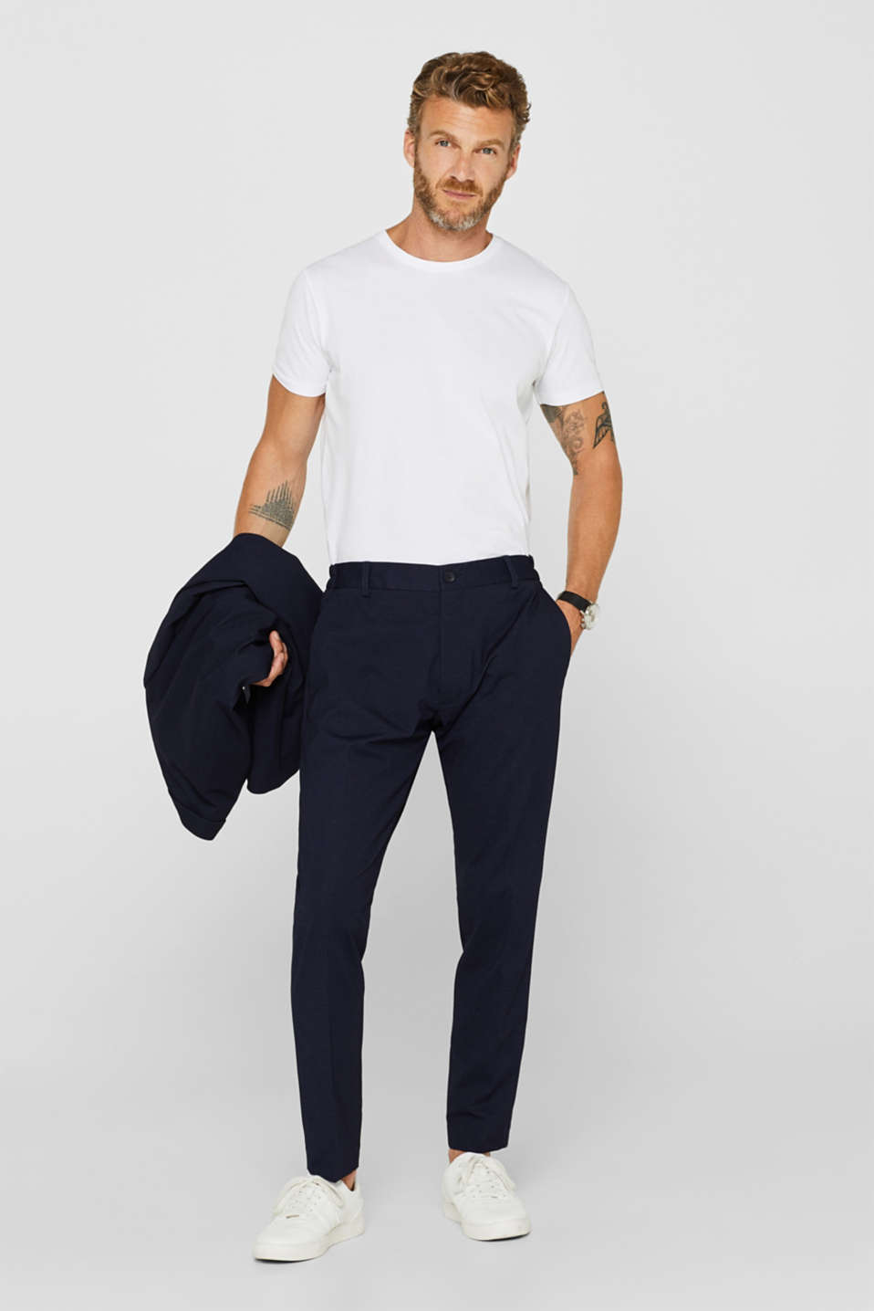 Pants suit, NAVY, detail image number 4