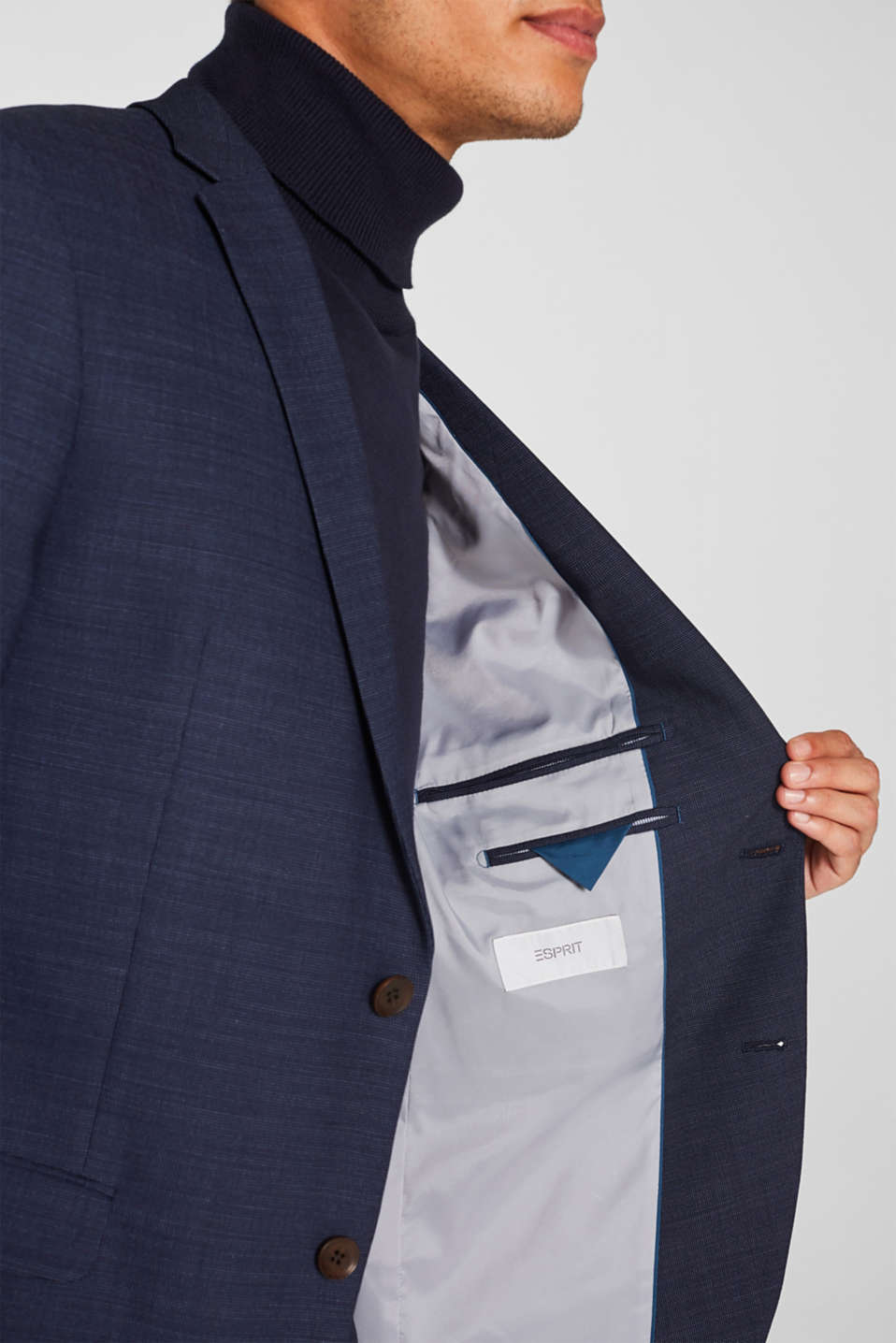 Blazers suit, NAVY, detail image number 2