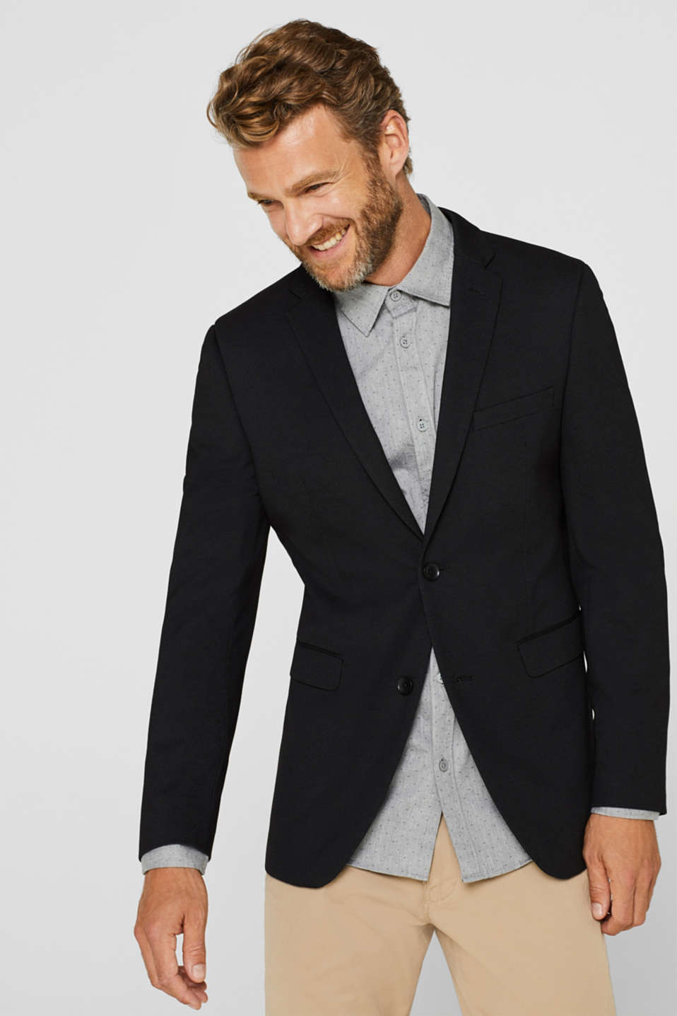 Esprit - COMFORT SUIT mix + match: Textured jacket