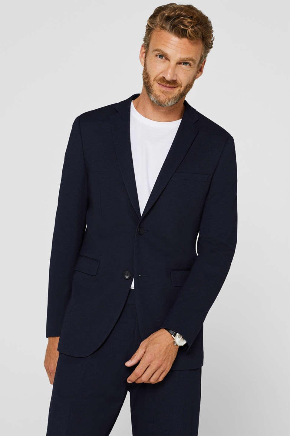 COMFORT SUIT mix + match: Textured jacket, NAVY, detail image number 0