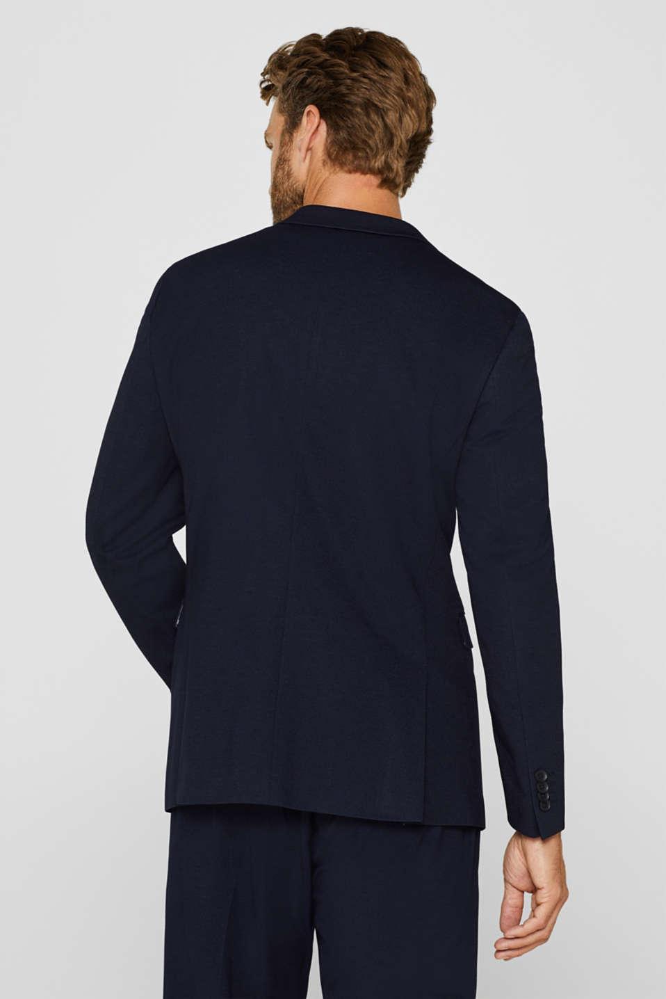 COMFORT SUIT mix + match: Textured jacket, NAVY, detail image number 3