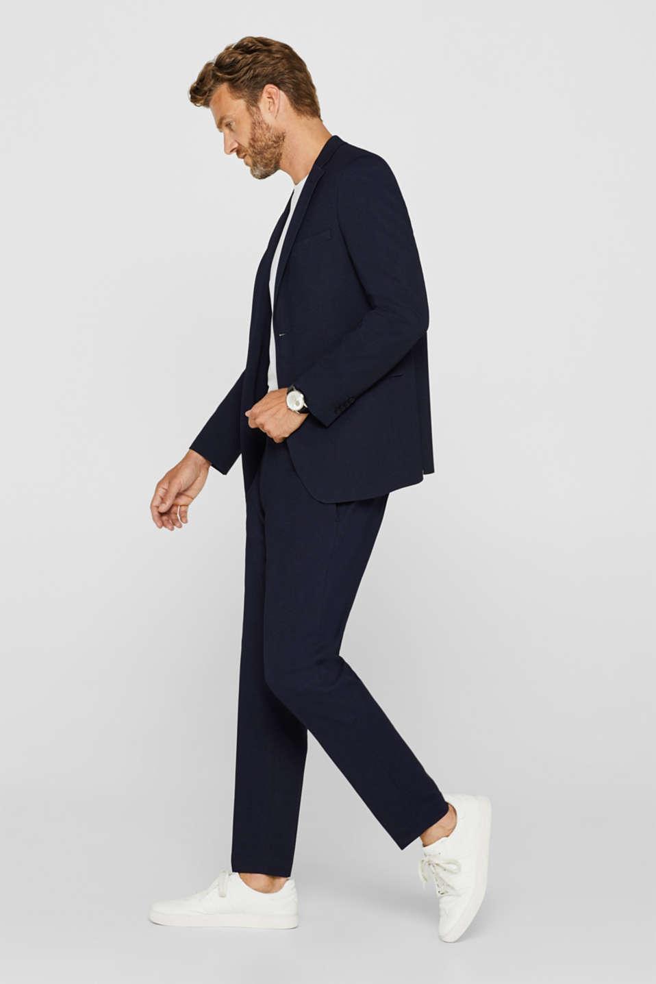 COMFORT SUIT mix + match: Textured jacket, NAVY, detail image number 1
