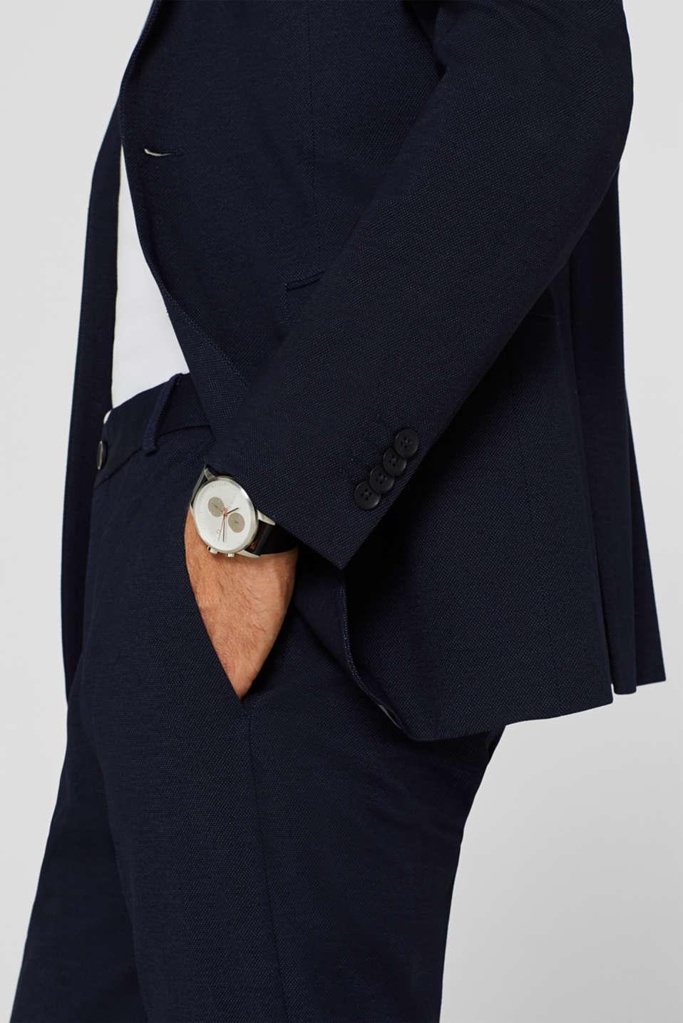 COMFORT SUIT mix + match: Textured jacket, NAVY, detail image number 2