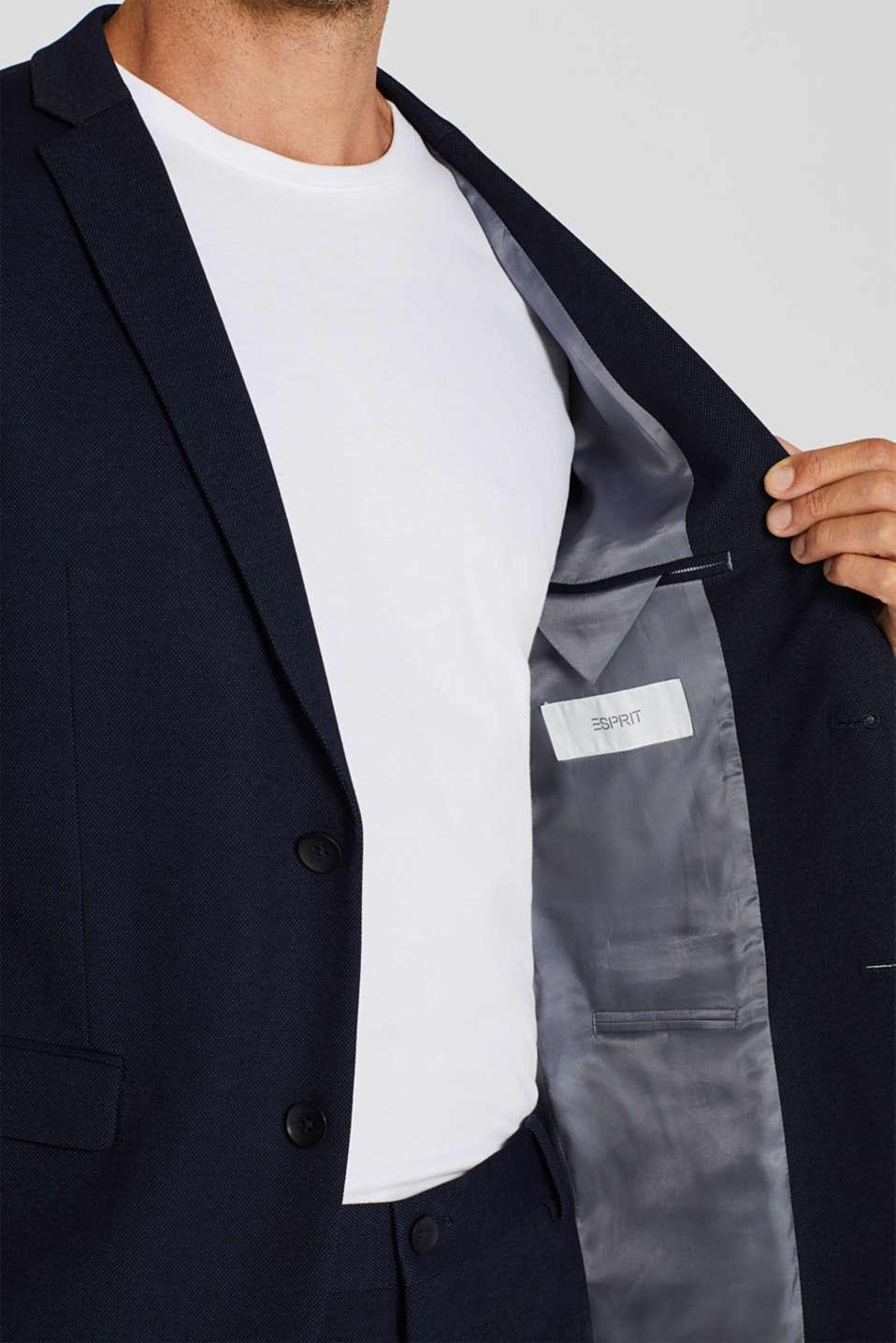 COMFORT SUIT mix + match: Textured jacket, NAVY, detail image number 6