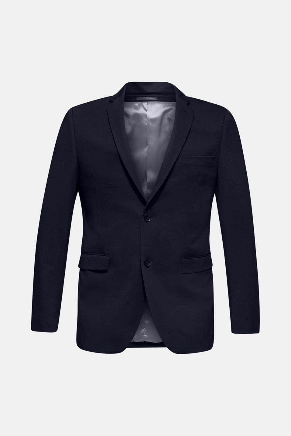 COMFORT SUIT mix + match: Textured jacket, NAVY, detail image number 7