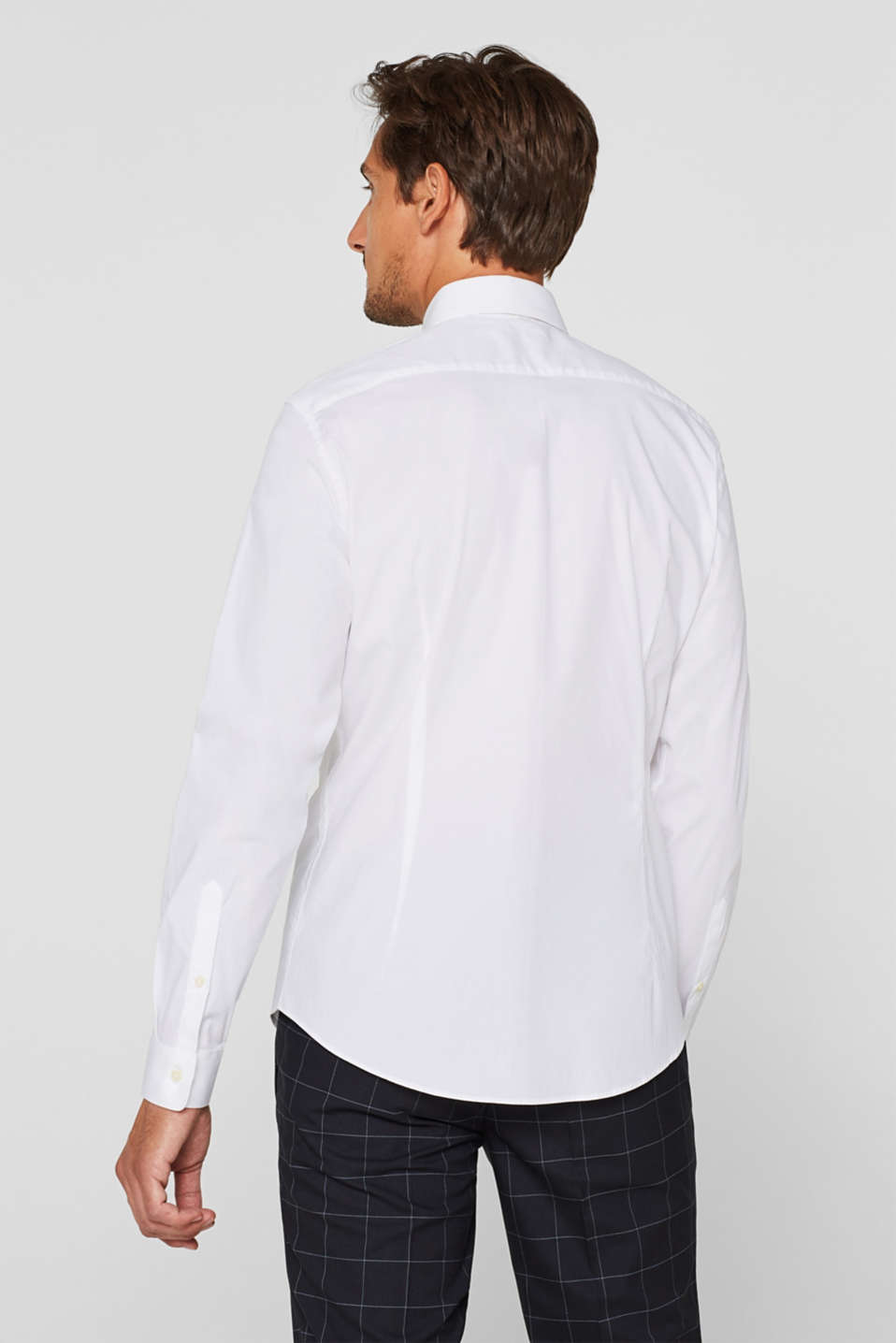 2-pack of business shirts, stretch cotton, WHITE, detail image number 3