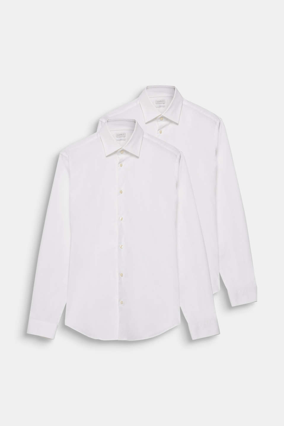 2-pack of business shirts, stretch cotton, WHITE, detail image number 5