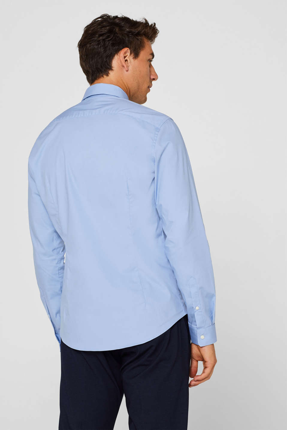 2-pack of business shirts, stretch cotton, LIGHT BLUE, detail image number 3