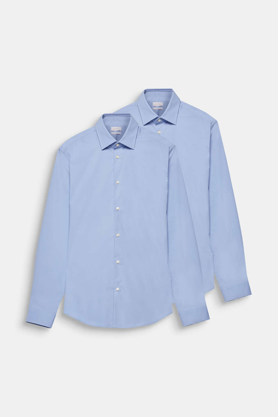 2-pack of business shirts, stretch cotton, LIGHT BLUE, detail image number 7