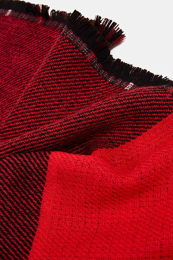 Recycelt: Doubleface-Schal mit Karo, RED, detail image number 2