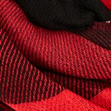 Recycled: double-faced scarf with checks, RED, swatch