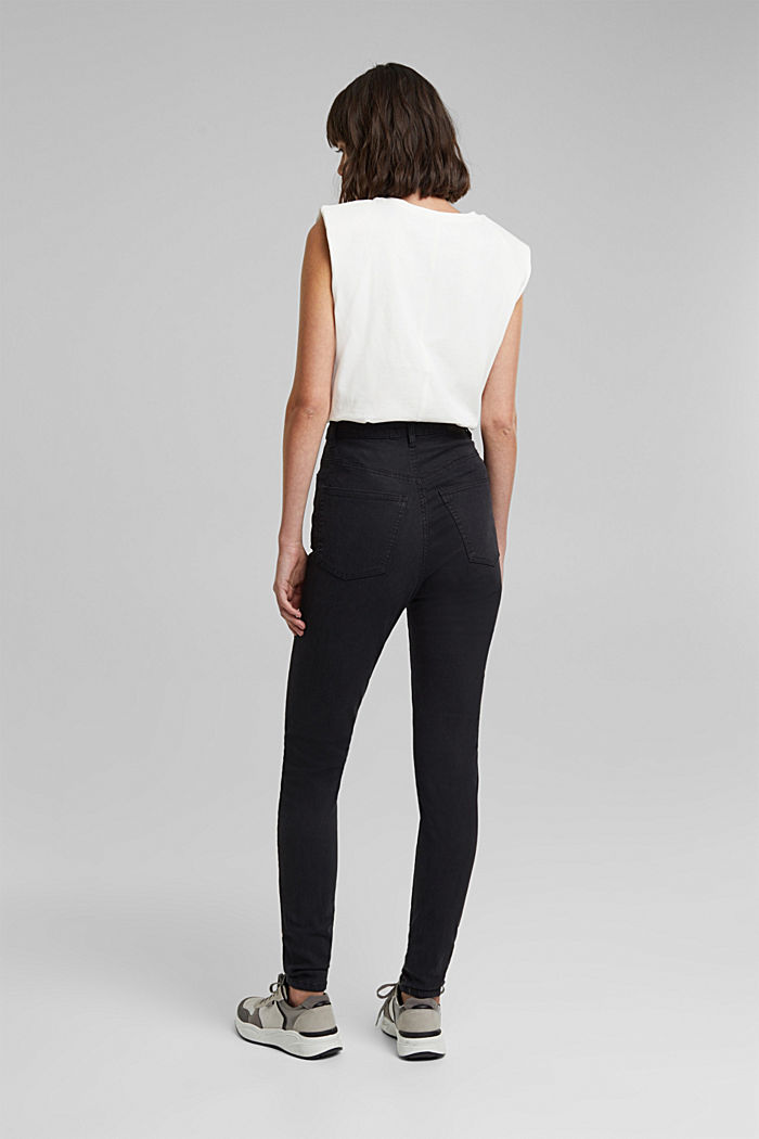 Super high-rise jeans with organic cotton, BLACK, detail image number 3