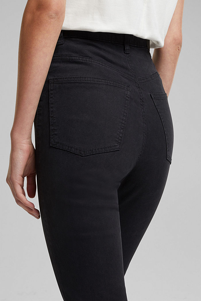 Super-High-Rise Jeans mit Organic Cotton, BLACK, detail image number 2