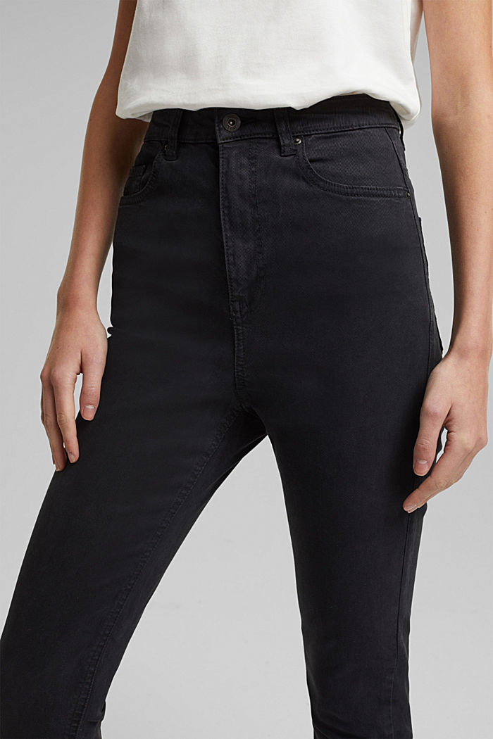 Super high-rise jeans with organic cotton, BLACK, detail image number 5