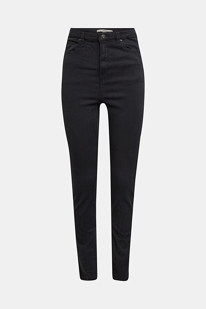 Super high-rise jeans with organic cotton, BLACK, detail image number 6