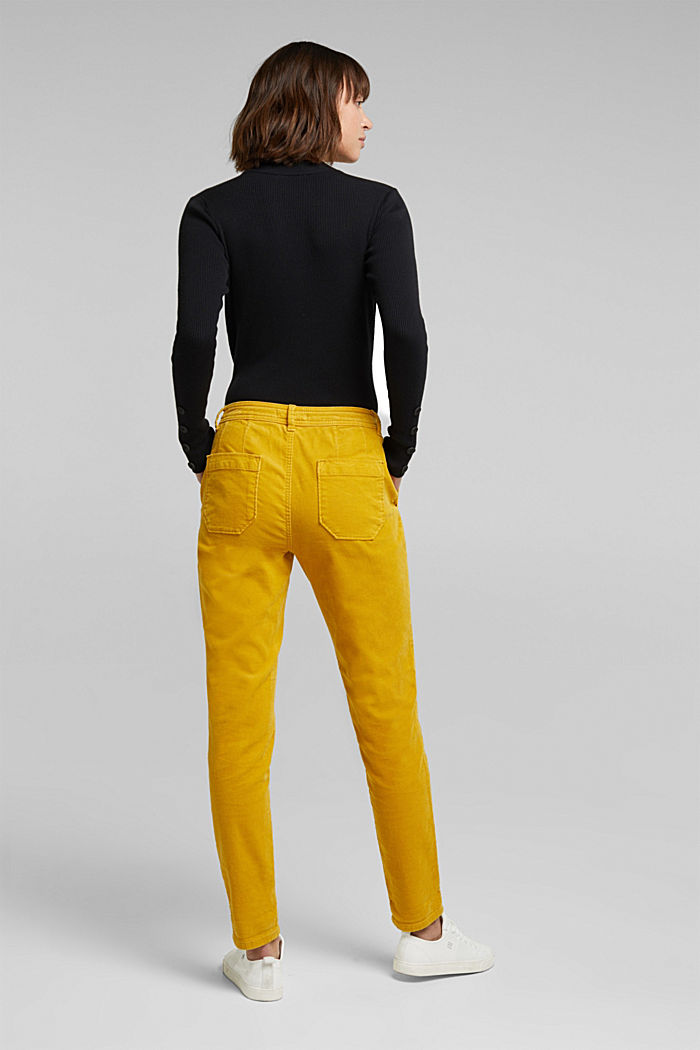 Stretch cord chinos, BRASS YELLOW, detail image number 3