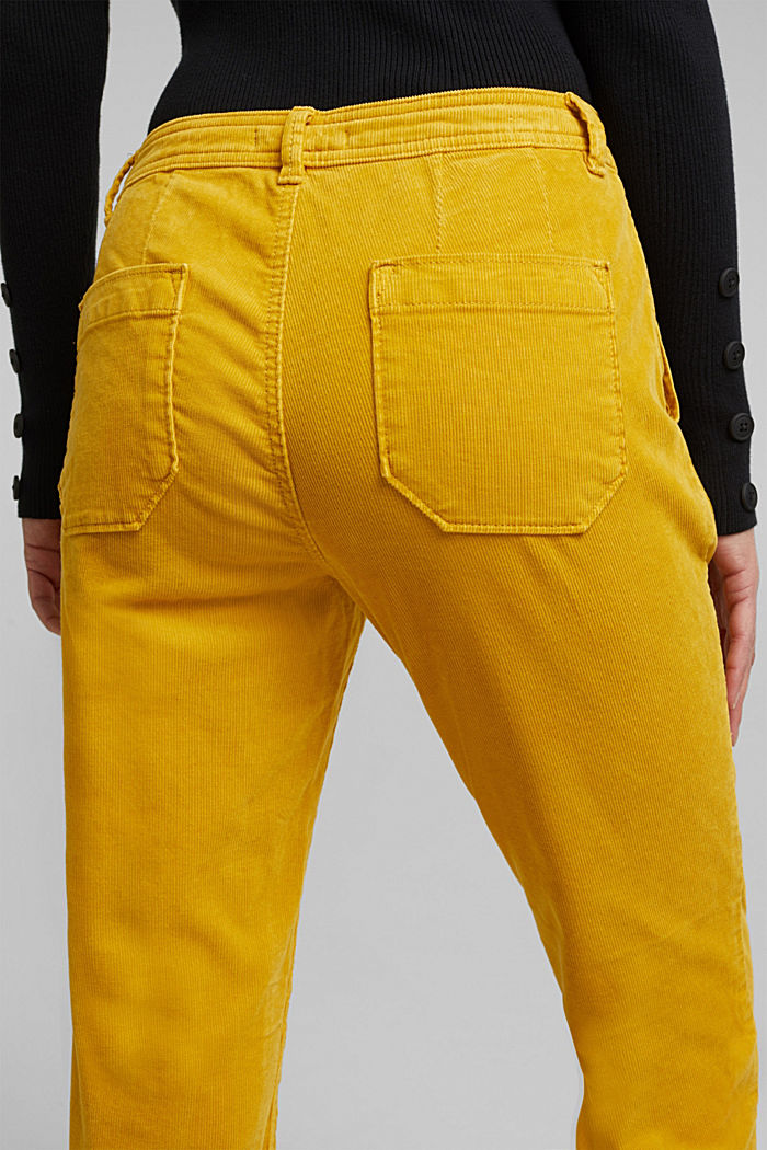 Chino aus Stretch-Cord, BRASS YELLOW, detail image number 2
