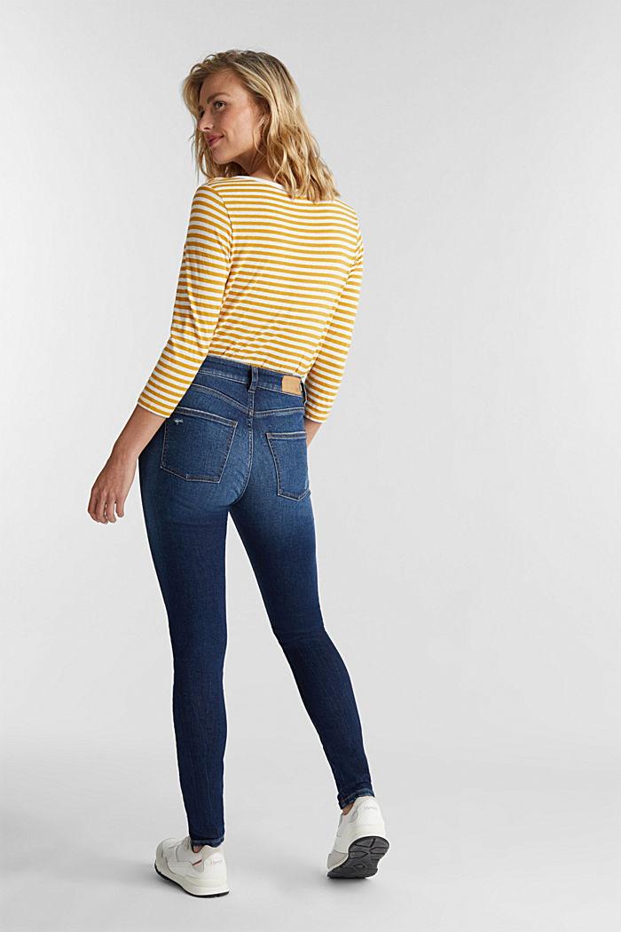 Skinny Jeans mit Organic Cotton, BLUE DARK WASHED, detail image number 3