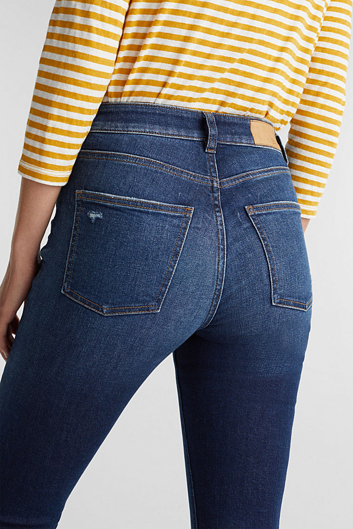 Skinny Jeans mit Organic Cotton, BLUE DARK WASHED, detail image number 5