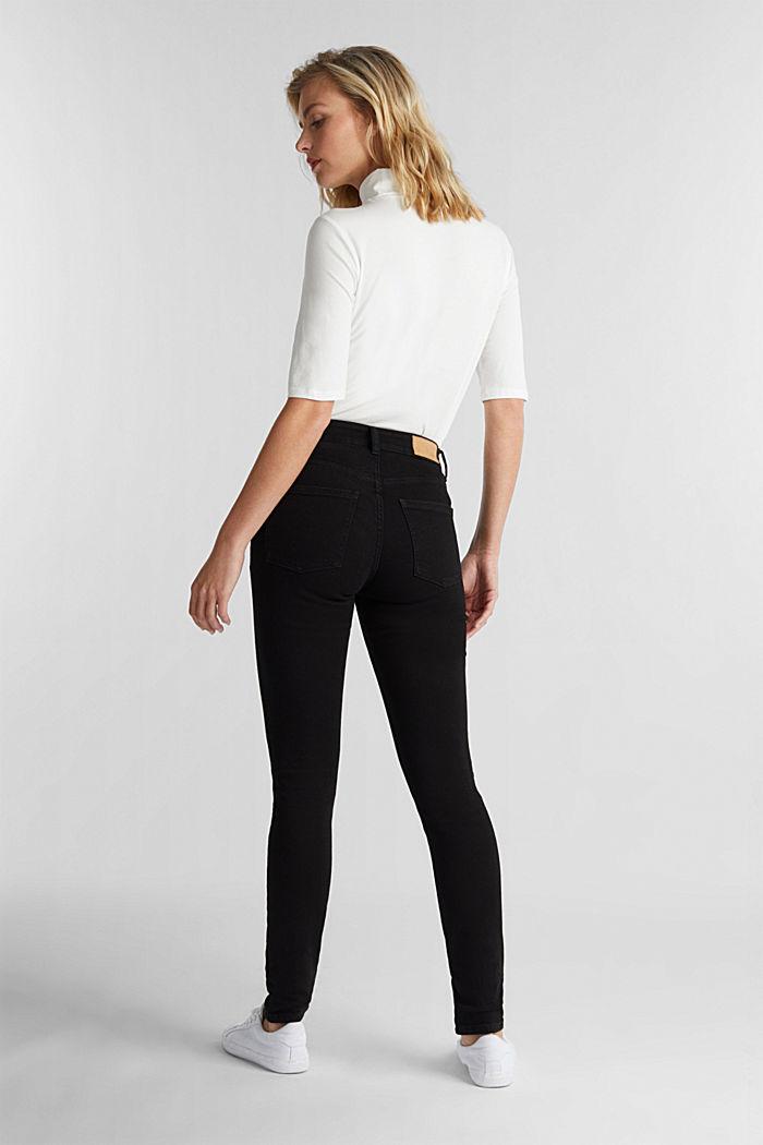 Jean skinny en coton bio, BLACK RINSE, detail image number 3