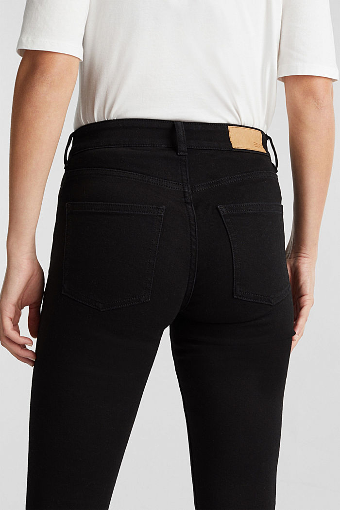 Jean skinny en coton bio, BLACK RINSE, detail image number 2
