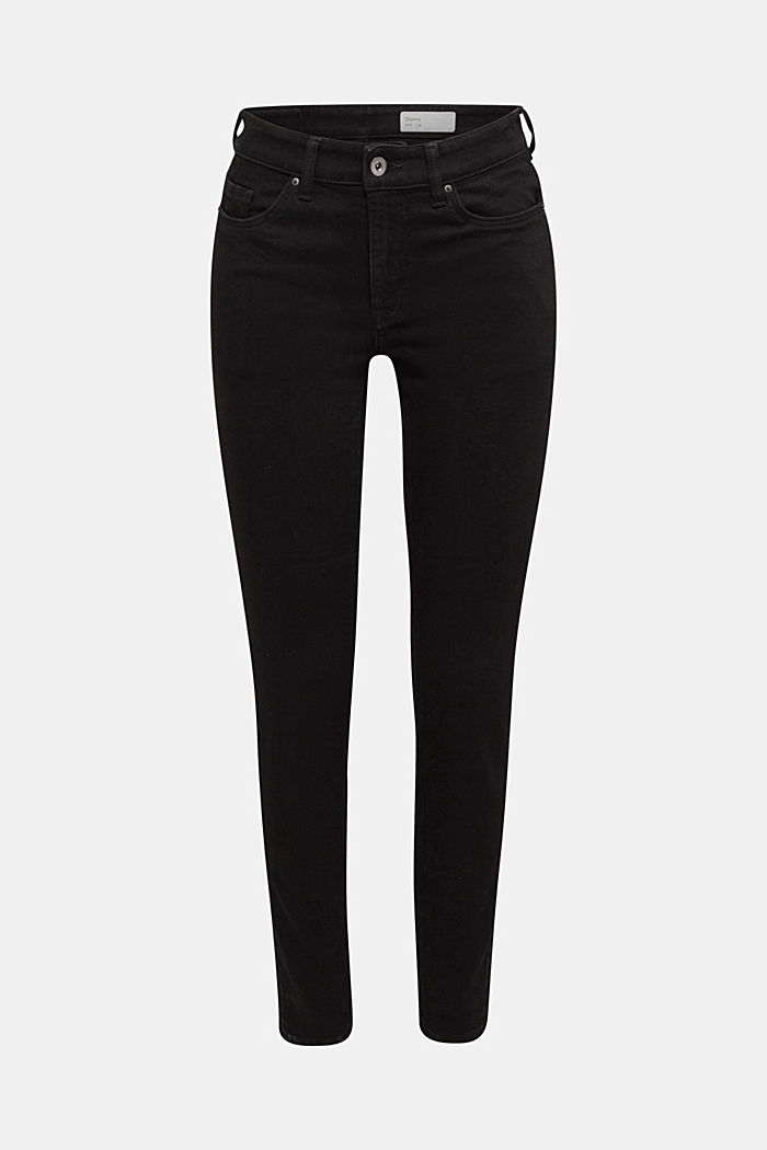 Organic cotton skinny jeans, BLACK RINSE, detail image number 6