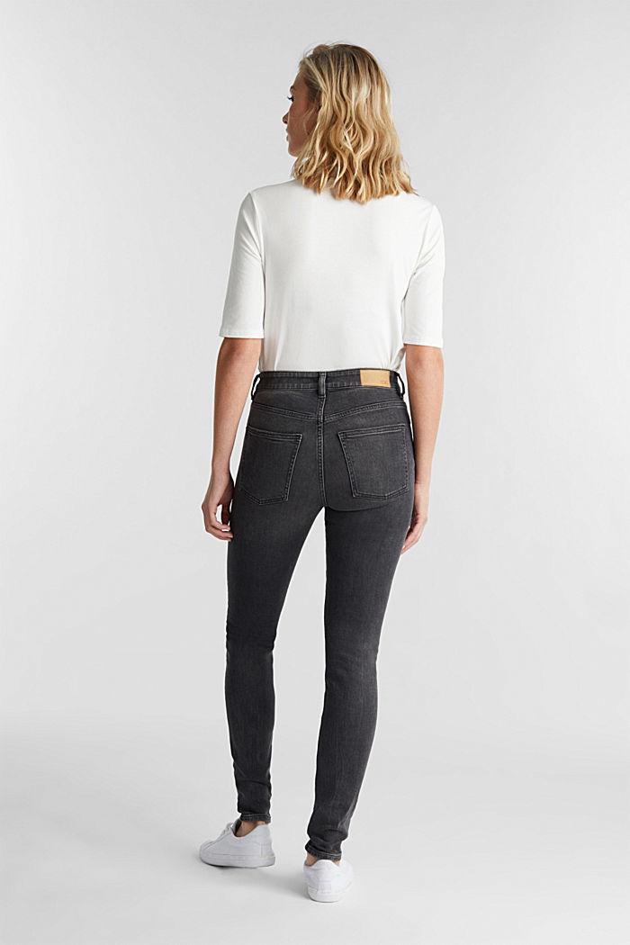 Organic cotton skinny jeans, BLACK MEDIUM WASHED, detail image number 3