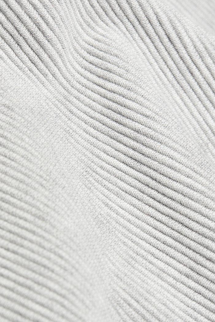 Gebreide rok met biologisch katoen, LIGHT GREY, detail image number 4