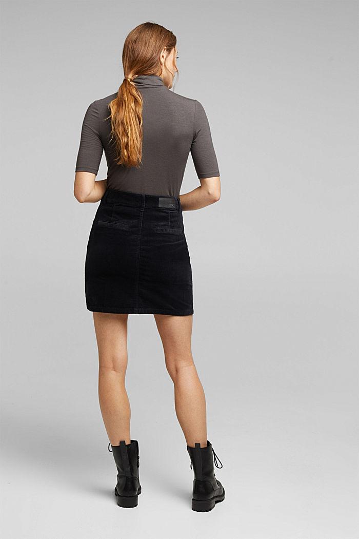 Corduroy mini skirt, BLACK, detail image number 3