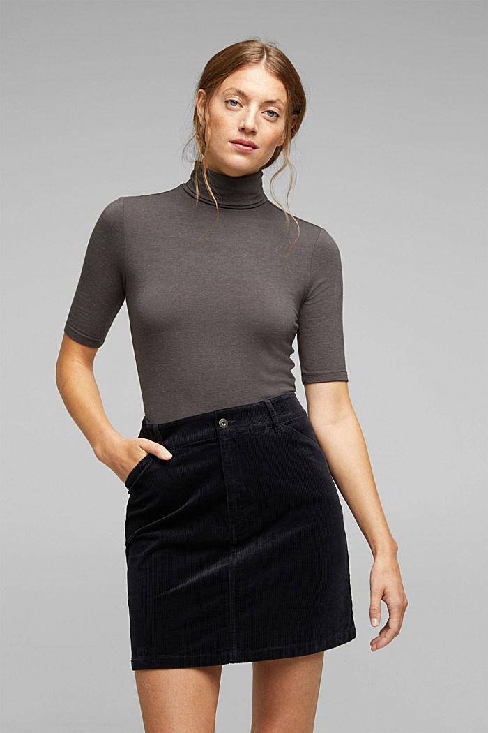 Corduroy mini skirt, BLACK, detail image number 6