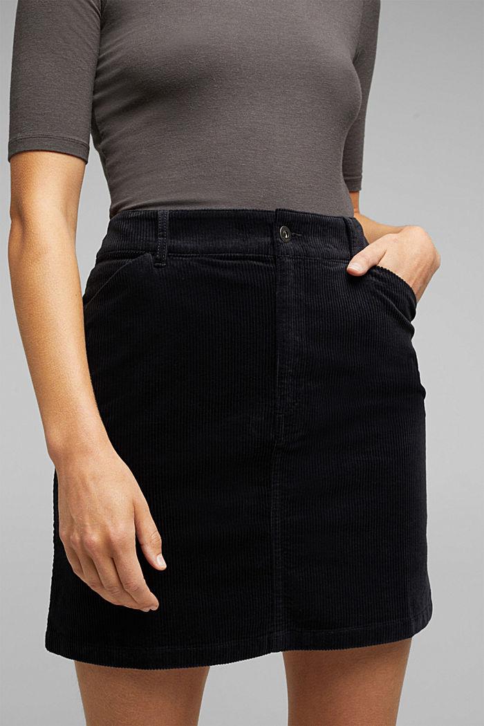 Corduroy mini skirt, BLACK, detail image number 2