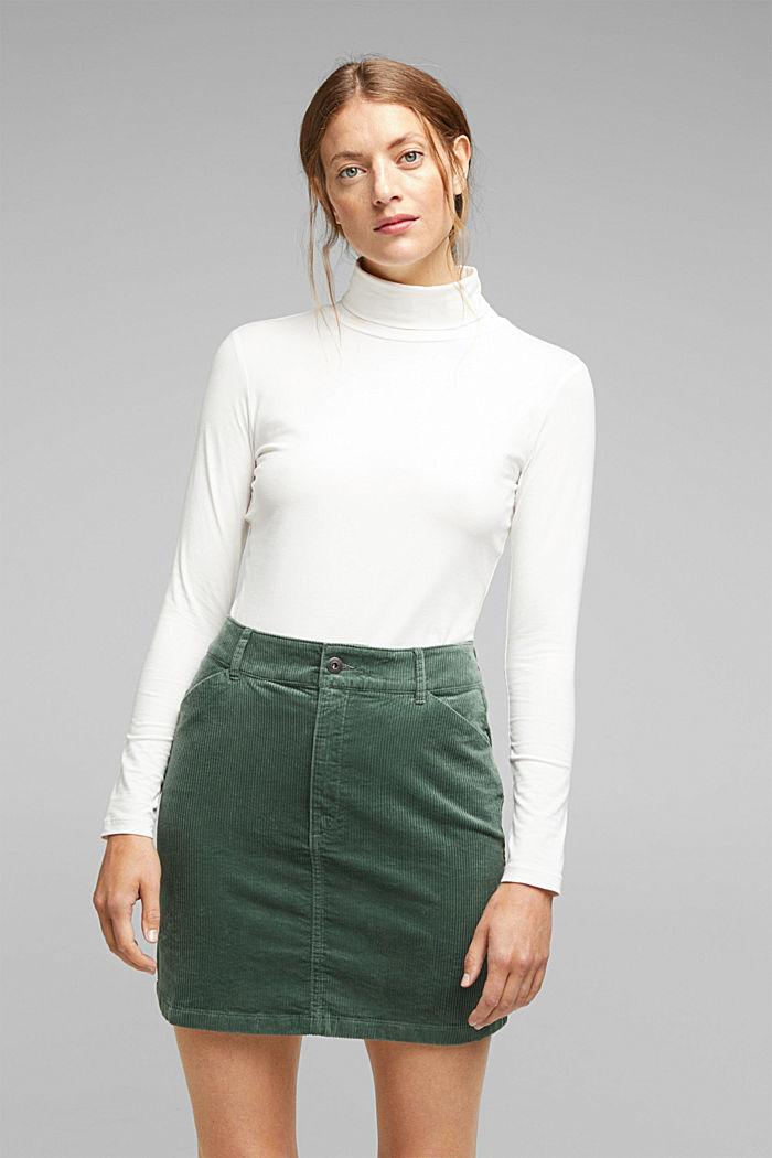 Corduroy mini skirt, LIGHT KHAKI, detail image number 0